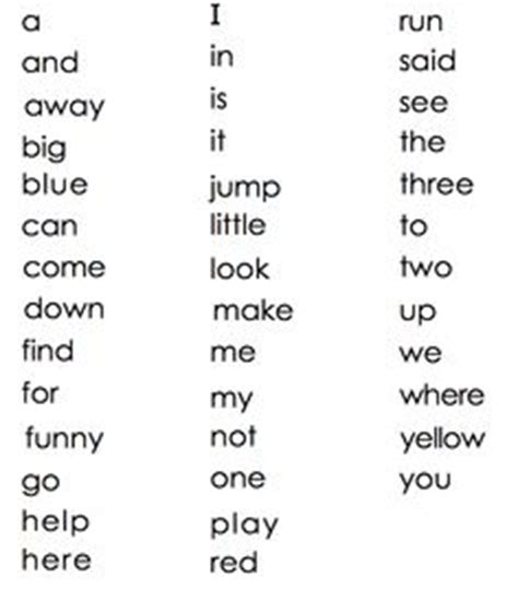 homeschooling images sight words list sight