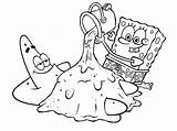 Coloring Spongebob Pages Characters Comments sketch template
