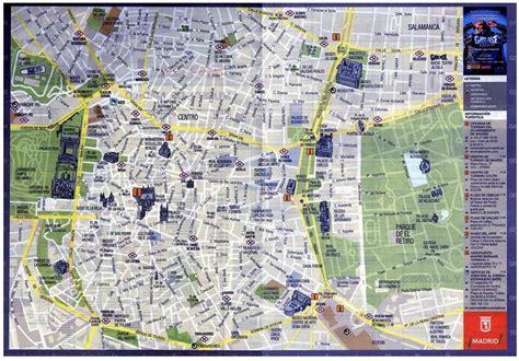 Ufficio Turistico Barcellona by Mappa Centro Di Madrid Distribuita Dall Ufficio
