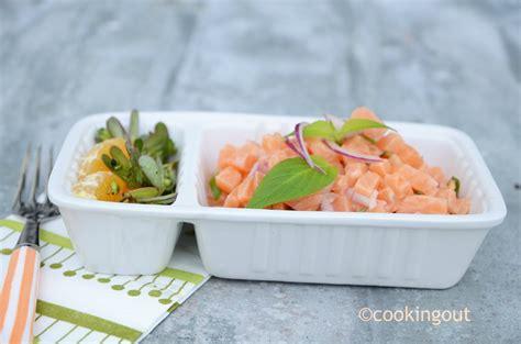 sauge ananas cuisine tartare de saumon à la sauge ananas et à la clémentine