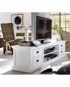 Davausnet meuble chambre bois blanc avec des idees for Deco cuisine pour meuble tv bois
