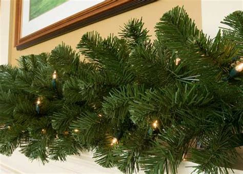 lighted christmas garland sequoia fir prelit commercial
