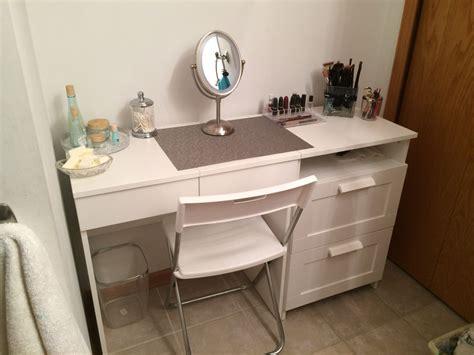 vanity set ikea my diy make up vanity using ikea brimne dressing table