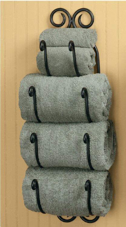 park designs decorative scroll bath towel holder black