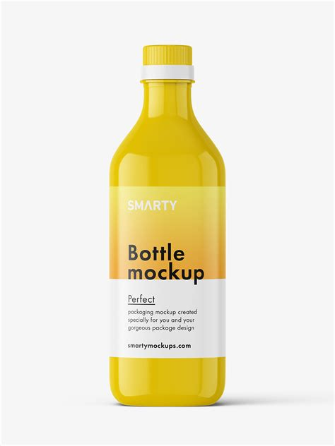 You can use this free mockup for commercial or personal purpose. Glossy bottle mockup - Smarty Mockups