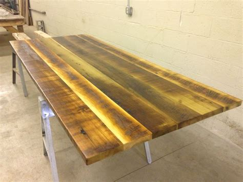 reclaimed wood table top longwood tables pinterest