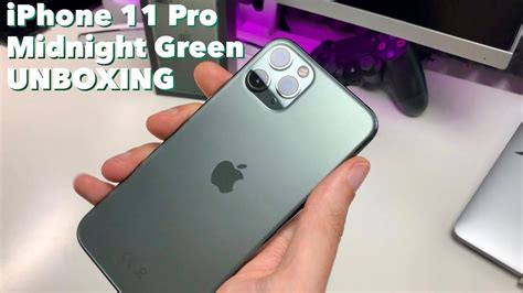 iPhone 11 Pro - Midnight Green - UNBOXING - Deutsch - YouTube