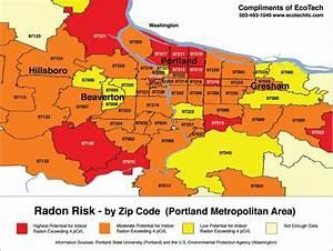 Portland Oregon Radon Map 2013 : Real Estate Agent PDX