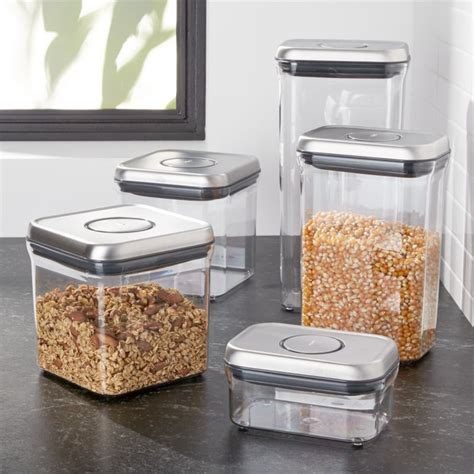 OXO Steel Pop Containers, Set of 5   Reviews   Crate and