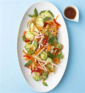 Raw Vegetable Salad with Dressing