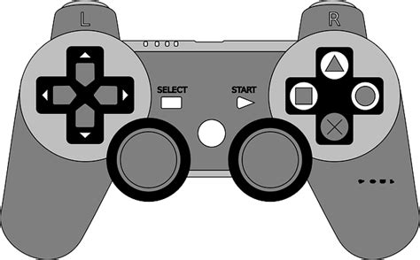 vector graphic joystick playstation console