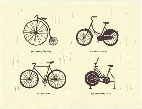 This Print Depicts Different Bicycle Types (its Evolution