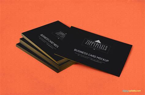 Free mockup in psd format. Free Business Card PSD Mockup | ZippyPixels