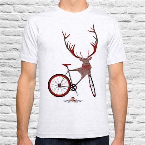 Stag Bicycle T Shirt By Wyatt9 Notonthehighstreetcom