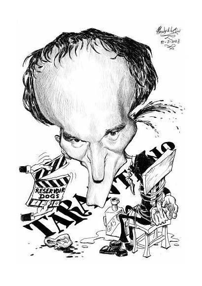 Tarantino Caricature Caricatures Quentin Cartoon Famous Rios