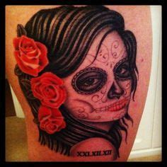 day   dead neck tattoo images neck tattoos