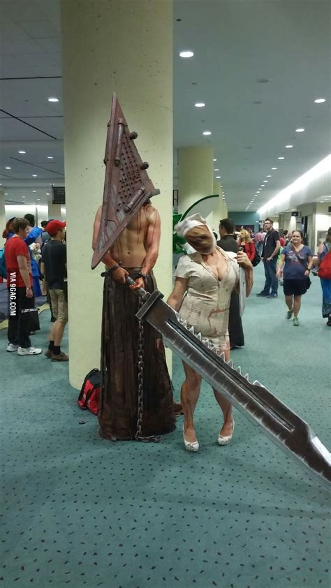 badass cosplay  pyramid head  faceless nurse