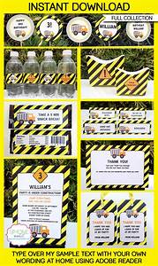 Construction Party Printables, Invitations & Decorations