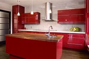 Rote Arbeitsplatte Küche : rote k che mit kochinsel cozinhas pinterest rote ~ Sanjose-hotels-ca.com Haus und Dekorationen