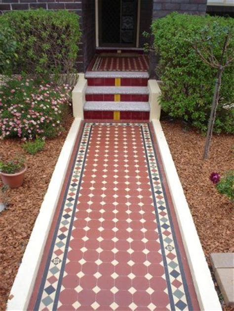 now that is an entrance edwardian tiles path steps and