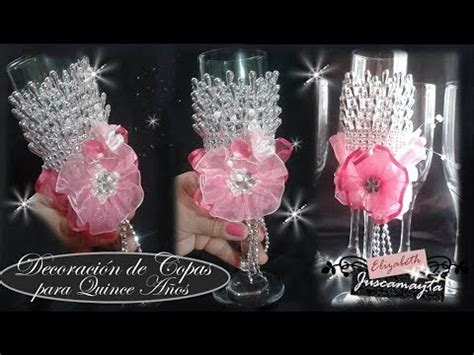 decoraci 243 n de copas para quince a 241 os l elizabeth juscamayta