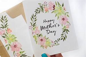 Free Printable Mother's Day Cards with Envelope Inlay