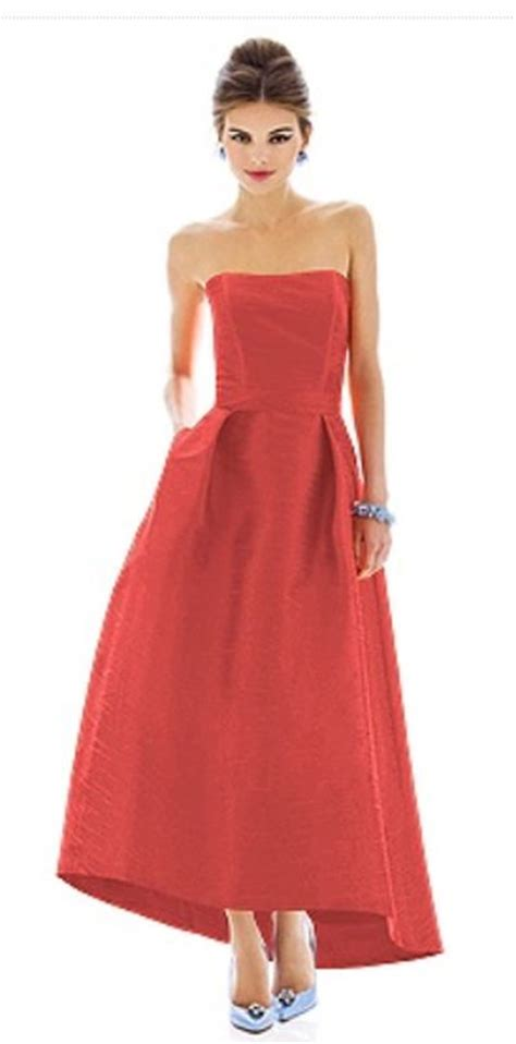 alfred sung  peau de soie bridesmaid dress french novelty