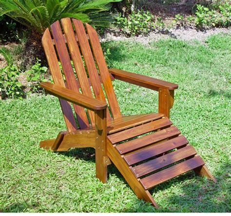 adirondack chair with attached footrest design bookmark