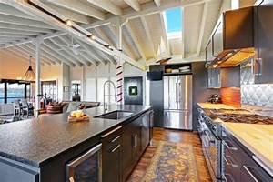 la cuisine avec ilot cuisine bien structuree et With cuisine avec grand ilot central