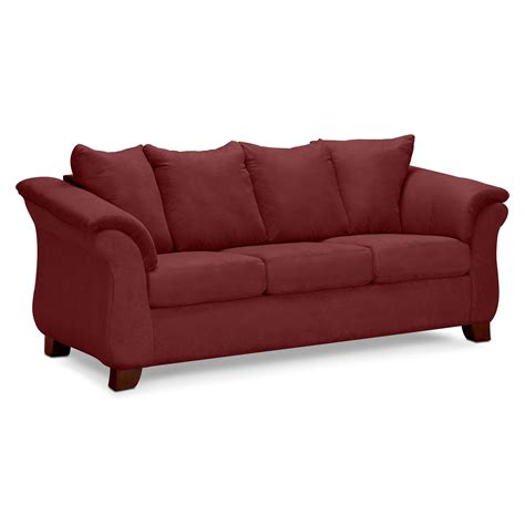 value city furniture recliner sofas adrian red upholstery sofa value city furniture