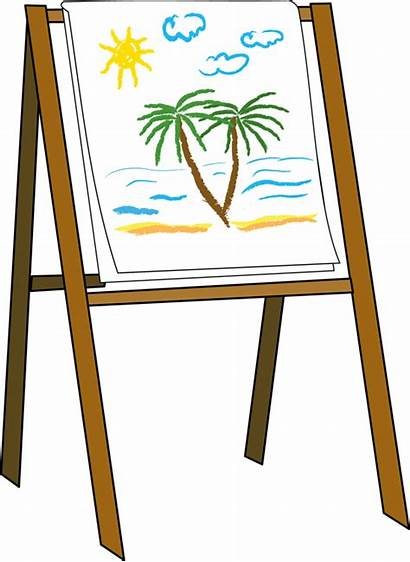 Easel Clipart Clip Canvas Painting Drawing Paint