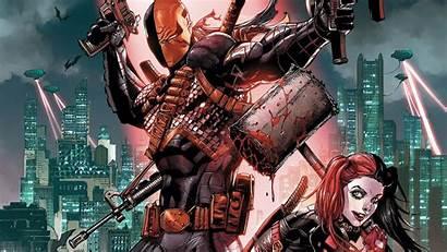 Deathstroke Wallpapers Quinn Harley Comics Dc 4k