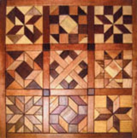 geo shaped wood quilt  intarsia project pattern