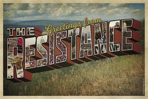 resistance postcard peace supplies