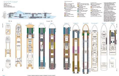 Grand Princess Deck Plan by Deck Layout Grand Princess Aussie Cruising