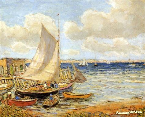 Jamestown Boat Supplies by Fishing Boats At Jamestown Rhode Island Artwork By