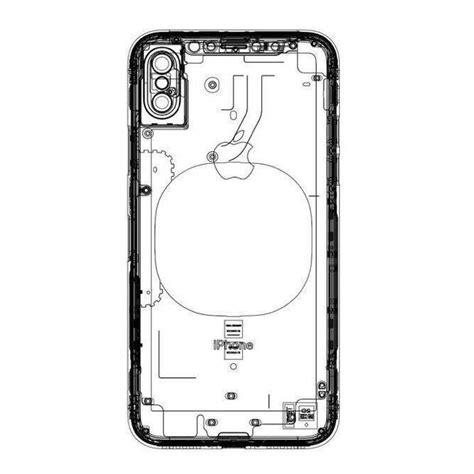 alleged iphone  schematic shows wireless charging pad  rear touch id appleinsider