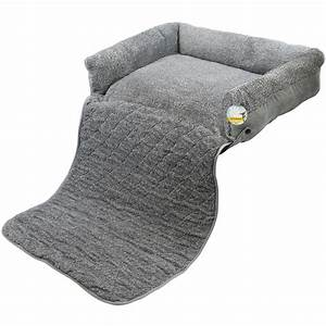 me my pet quilted grey fleece fold out cat dog bed sofa With dog bed mattress protector