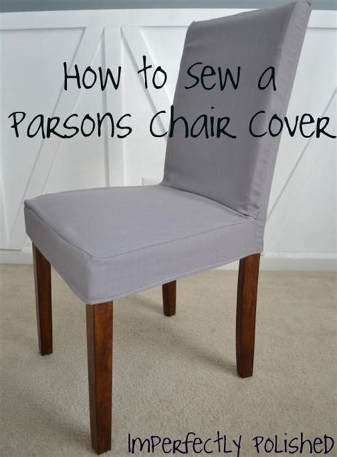 parsons chair slipcover tutorial great idea   cover