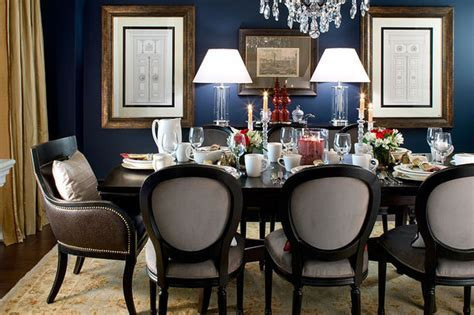Jane Lockhart Navy Dining Room   Traditional   Dining Room