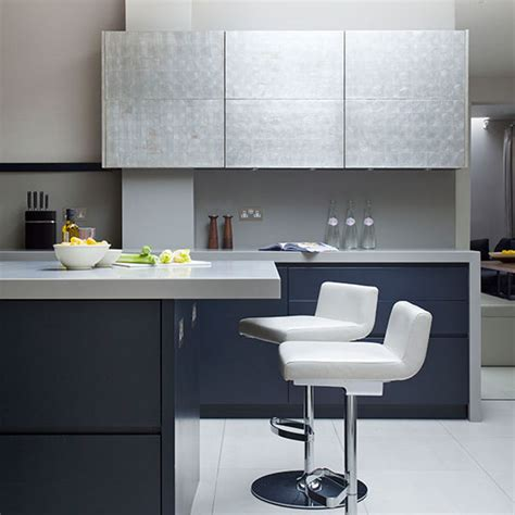 Small Kitchen Design Ideas Uk - modern blue black kitchen kitchen tour ideal home