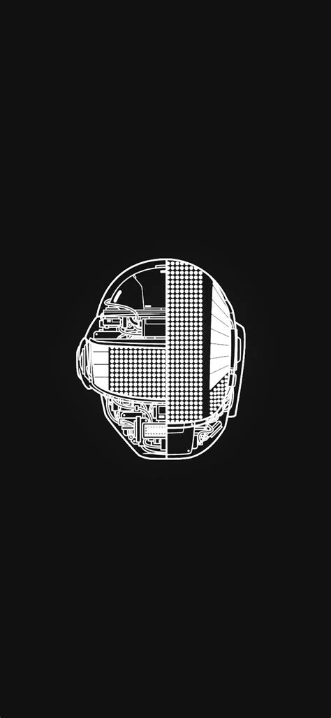 Daft Punk wallpaper - Black and White [OC] : DaftPunk