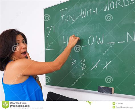 Fun With Words On Chalk Board Stock Photo  Image 61149040