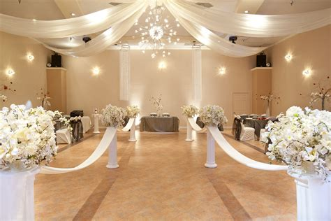 wedding hall decor committed anniversary wedding