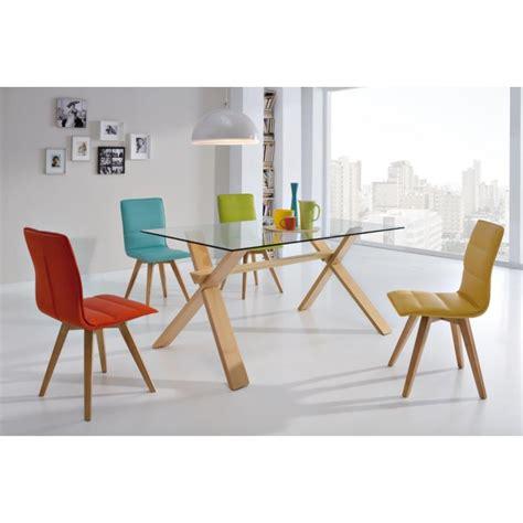 chaise design pied bois chaise plexi pied bois chaise design en plexi et bois