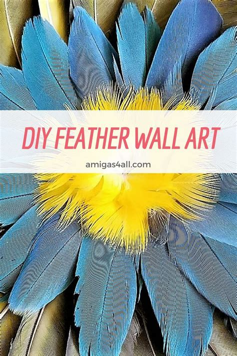 That little corner can provide additional storage space or give you the opportunity to show something that does not quite fit elsewhere. How to Make a Colorful Summer DIY Feather Wall Art | Feather wall art, Feather crafts, Summer diy
