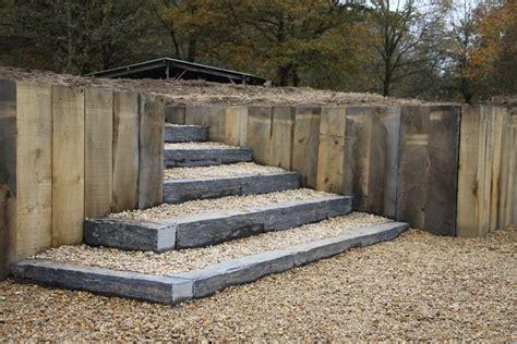 escalier en rondin de bois escaliers berger paysage saumur