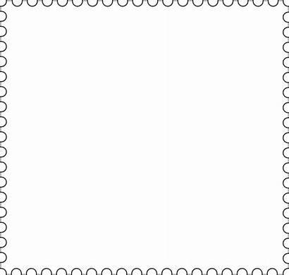 Plain Stamp Clipart Borders Clip Transparent Frames