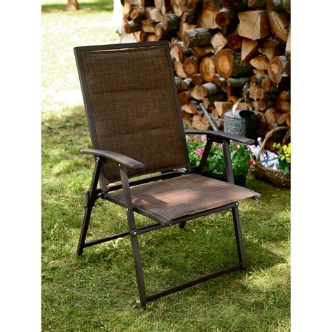 sears folding lounge chairs country living brookshire folding padded sling chair