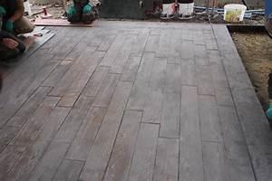 terrasse beton imprime parquet nos conseils With parquet imprimé